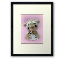 Little Gracie - Handmade bears from Teddy Bear Orphans Framed Print