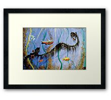 Under The Sea Greeting Card Framed Print