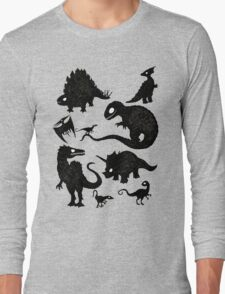 Silhouetted Dinosaurs Long Sleeve T-Shirt