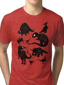 Silhouetted Dinosaurs Tri-blend T-Shirt
