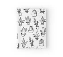Succulents - Black & White Hardcover Journal