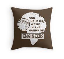 Hands of Engineers Throw Pillow