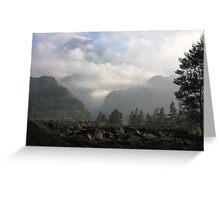 Morning Mist at Merapi Greeting Card