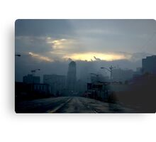 Eerie Sky Over Detroit Metal Print