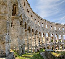 Colosseum in pula by Ian Middleton