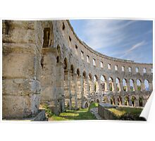 Colosseum in pula Poster