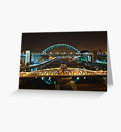 Bridges of the River Tyne, Newcastle. UK Greeting Card