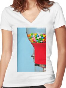 Chicle Women's Fitted V-Neck T-Shirt