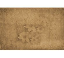 Vintage paper with flowers texture Photographic Print