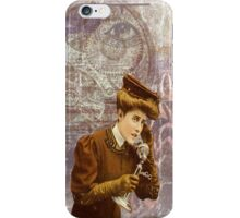 Steam Punk Lady Telephone Gears iPhone Case/Skin