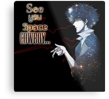 Spike Spiegel Space Cowboy Metal Print