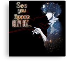 Spike Spiegel Space Cowboy Canvas Print