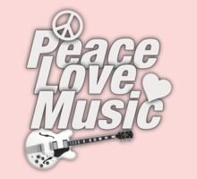 White Peace Love Music Kids Clothes