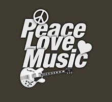 White Peace Love Music Unisex T-Shirt