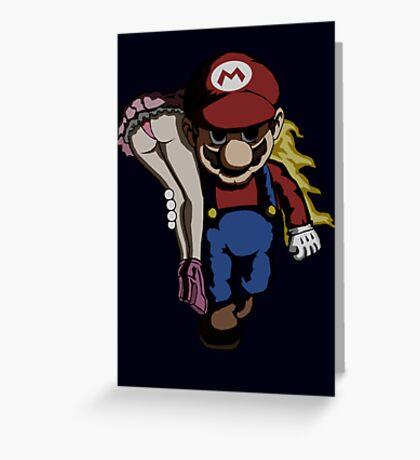 Mario Kidnap Greeting Card