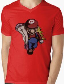Mario Kidnap Mens V-Neck T-Shirt