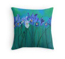 a clutch of dutch irises Throw Pillow