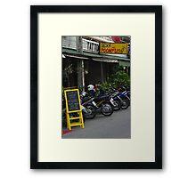 Bar at Chiang Mai Framed Print