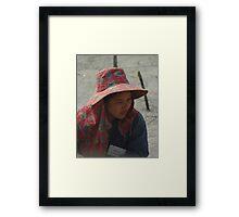 Construction worker Framed Print