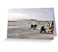 Sand storm on the Brouwersdam Greeting Card