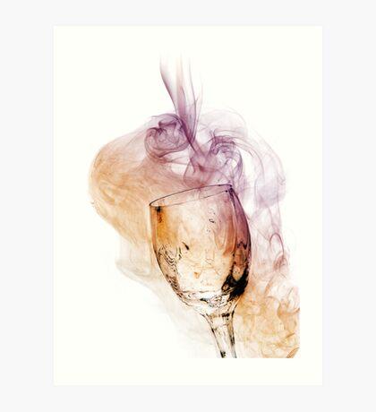 A Glass of Smoke Art Print