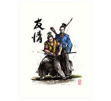 Kirk and Spock Samurai from Star Trek Art Print