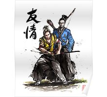 Kirk and Spock Samurai from Star Trek Poster