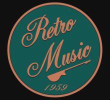 Vintage Retro Music 1959 Sign Kids Tee