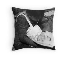 So absorbed ... Throw Pillow
