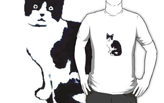 Black & White Cat by Tara Lea