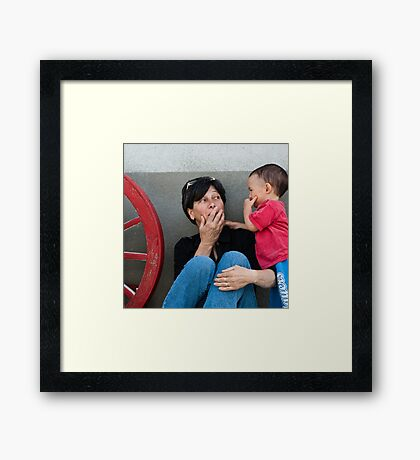 Sharing a joke Framed Print