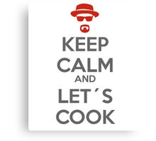 Keep calm and let´s cook Canvas Print