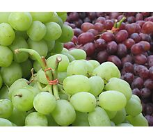 Grapes at a new york market Photographic Print