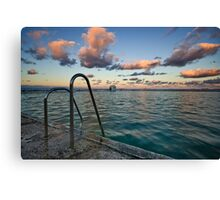 Evening at Merewether Ocean Baths Canvas Print