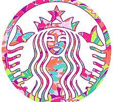 Preppy Printed Coffee Logo by megsiev