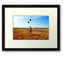Throw your love up in the air Framed Print