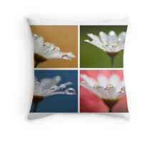 Daisy Dream Collage Throw Pillow