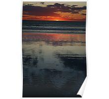 Reflecting At Sunset Poster