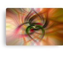 Peach and Green  Canvas Print
