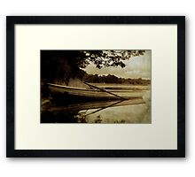 A Summer's Evening On Lake Mentieth Framed Print