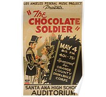 WPA United States Government Work Project Administration Poster 0918 The Chocolate Soldier Santa Ana High School Auditorium Poster