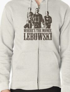 The Big Lebowski Nihilists Where's The Money Lebowski T-Shirt Zipped Hoodie