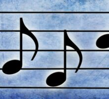 BASS Words in Music Blue Background - a V-Note Creation Sticker