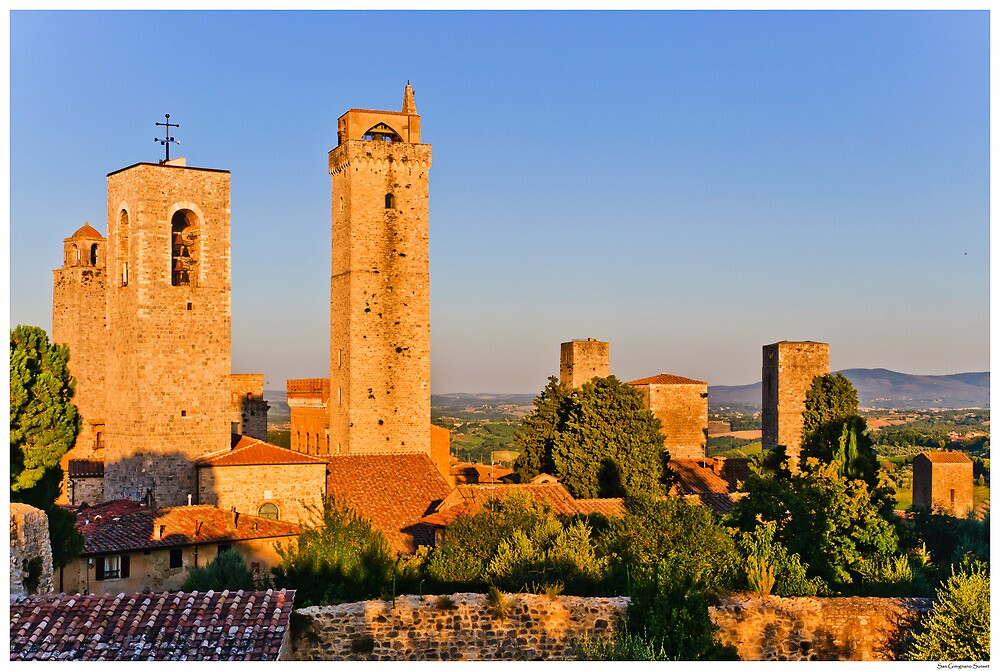 Postcard from San Gimignano by Paul Weston