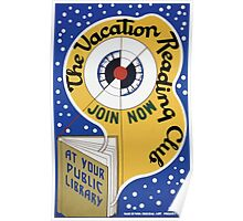 WPA United States Government Work Project Administration Poster 0143 The Vacation Reading Club Join Now Public Library Iowa Poster