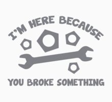 I'm Here Because You Broke Something by AmazingVision
