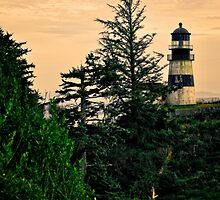 The Washington Cape Disappointment Lighthouse by IMAGETAKERS