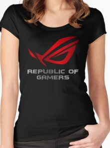 Asus Republic of Gamers Women's Fitted Scoop T-Shirt