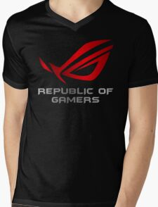 Asus Republic of Gamers Mens V-Neck T-Shirt