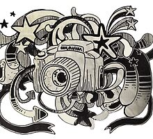 Camera Journal Sketch by BlueVixenDesign